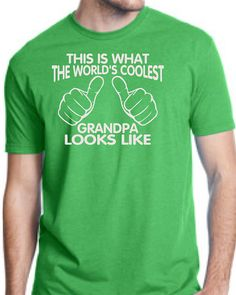WORLDS COOLEST GRANDPA This is what the worlds coolest grandpa looks like mens T-shirt shirt tshirt gift Fathers Day gift #dad #grandpa #shirt #father