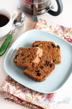 Carrot Bread Recipe with Raisins and Chai Spices - Gluten Free and Dairy Free (can be egg free)