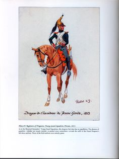 Imperial Guard: Plate 85: Regiment of Dragoons, Young Guard Squadron, Private, 1813.