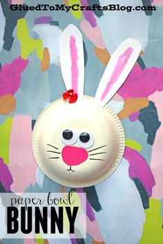 """Let me introduce to you our """"Paper Bowl Easter Bunny"""" idea. It's just matter of finding a white paper bowl and adding a few elements to bring it to life! Paper Cup Crafts, Easter Arts And Crafts, Easter Activities For Kids, Bunny Crafts, Craft Projects For Kids, Paper Crafts For Kids, Cute Crafts, Preschool Crafts, Kid Crafts"""