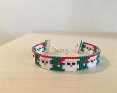 Miyuki Bead Santa Christmas Bracelet