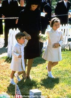 One year later: The Kennedy family had moved to a townhouse in the neighborhood of Georgetown by the time they visited his grave on his birthday on May 29, 1964  Read more: http://www.dailymail.co.uk/news/article-2506989/Where-JFKs-children-assassinated.html#ixzz2lJpqlyqN  Follow us: @MailOnline on Twitter | DailyMail on Facebook