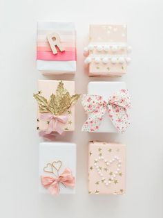 Hey Gorgeous Events shows us 12 easy and gorgeous ways to wrap holiday gifts. Photos by Samantha James Photography.