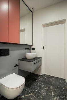 Realizacje - mieszkania pod klucz w stylu nowoczesnym, loftowym, industrialnym, skandynawskim – Warszawa - Monika Hardej Toilet, Bathroom, Washroom, Flush Toilet, Full Bath, Toilets, Bath, Bathrooms, Toilet Room