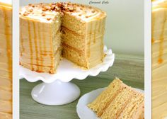 You will love this moist & delicious Caramel Cake recipe!~Caramel cake with caramel frosting, scratch Frosting Recipes, Cake Recipes, Dessert Recipes, Icing Recipe, Pie Dessert, Cupcakes, Cupcake Cakes, Sweets Cake, Muffins