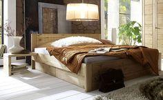 Bett mit Stauraum - Funktionsbett 180 x 200 cm- Kiefer Möbel massiv - gelaugt…