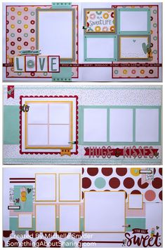 These scrapbook layouts created with CTMH Sugar Rush papers and accessories are truly sprinkled with fun. #scrapbooklayouts