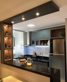 Kitchen Bar Design, Home Decor Kitchen, Interior Design Kitchen, Kitchen Furniture, Kitchen Ideas, Small Kitchen Designs, Small Kitchen Bar, Smart Kitchen, Awesome Kitchen