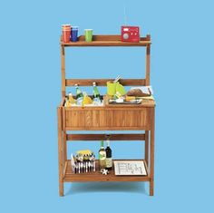 How to outfit a relatively inexpensive potting bench into an outdoor party station. | Photo: Andrew McCaul | thisoldhouse.com