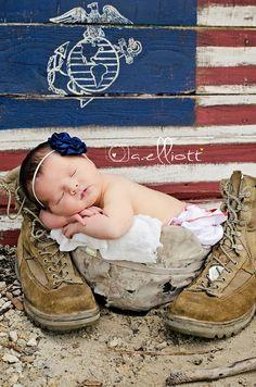 USMC newborn, marine newborn, outdoor newborn, military newborn