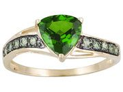 1.38ctw Russian Chrome Diopside And Orissa Alexandrite 10k Yellow Gold Ring  $187.49