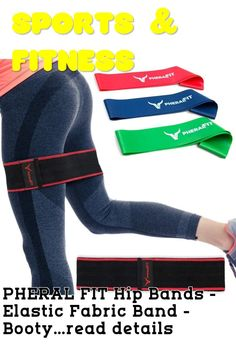 (This is an affiliate pin) PHERAL FIT Hip Bands - Elastic Fabric Band - Booty & Glute Exercise Band + 3 Resistance Loops Included | Hip Thruster Loop for Legs - Hips - Thighs & Booty
