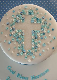 Blossom Christening Cake | Flickr - Photo Sharing!