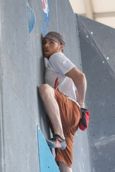 Peter Dixon, the strongest Vegan rock climber you'll ever hear about in a Bouldering World Cup.