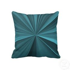 Indigo Cyan Pinch Knot Sofa Pillow by Just For Mom