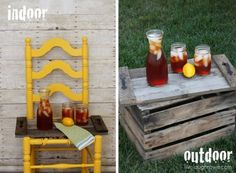 Pallet food serving tray tutorial. Pallet Tray, Pallet Crates, Wooden Pallets, Wooden Diy, Diy Pallet Projects, Cool Diy Projects, Project Ideas, Garden Projects, Wood Projects