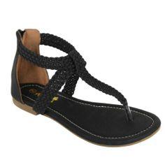 ANNA VITA-13 Women T-Strap Ankle Strappy Zip Braid Flat Gladiator Thong Sandal, Color:BLACK, Size:7 Anna,http://www.amazon.com/dp/B00I95GKX4/ref=cm_sw_r_pi_dp_xdGdtb190NN6VXES $22.99