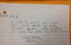 Leave Eminem alone. | 18 Children's Notes Made Hilariously Inappropriate By Spelling Errors