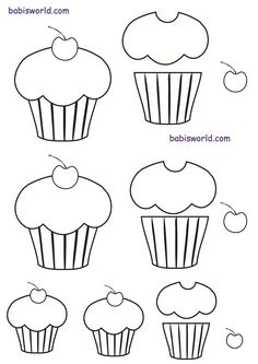 cup cake template
