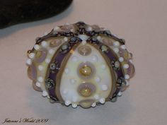 Urchin Sea Hollow Lampwork Glass Art Bead Focal di JettonnesWorld