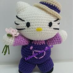 Patrón Hello Kitty granjera