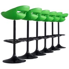 Modern Swivel Bar Stools Sweden, 1970s | See more antique and modern Stools at https://www.1stdibs.com/furniture/seating/stools