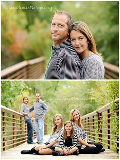 I love the second photo - good posing idea for a family photo session. Family Photography Pose