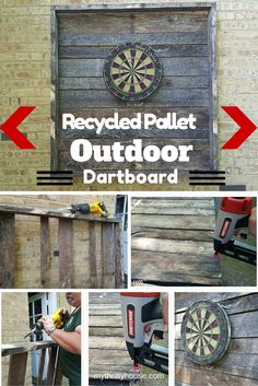"""I am a huge fan of taking """"trash"""" and repurposing it into something unique and unexpected just like this outdoor dartboard."""