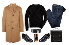 """""""Menswear Winter wardrobe"""" by thestyleartisan ❤ liked on Polyvore featuring Cole Haan, The Cambridge Satchel Company, Theory, J.Crew, Prada, Giorgio Armani, mens, men, men's wear and mens wear"""