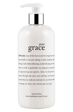so yummy. philosophy 'pure grace' perfumed body lotion available at #Nordstrom