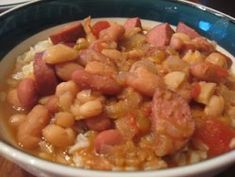 Great Northern Bean and Sausage Soup - So easy and yummy!
