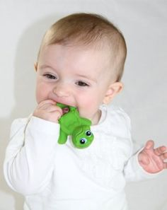 "Frog Natural Rubber Teether 4"" by Lanco:Amazon:Baby"