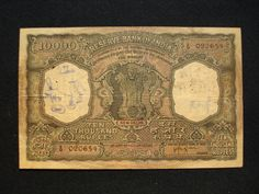 Indian Bank note of Rs 10000/- denomination this is the Highest Denomination Note ever used in India