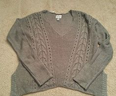 Women's juniors Converse One Star gray sweater size XS extra small