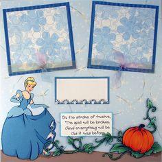 Cinderella Gets A Visit - Premade Scrapbook Page - Scrapping To Go