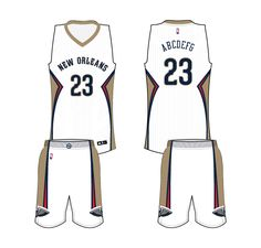 9c993629e New Orleans Pelicans Home Uniform 2014- Present New Orleans Pelicans