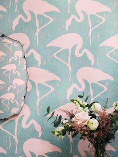 #Sanderson - collection Sanderson Vintage 2 -  papier peint modèle Flamingos - Sanderson http://www.sanderson-uk.com/