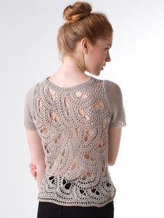 Crochet Back Tee