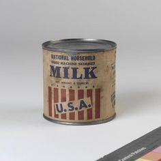 WW2 USA Dried Milk Tin