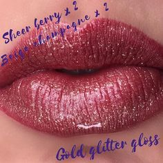 I love this glitter gloss! #lipsense #alldaylipcolor #lastinglipcolor ask me how to get this color! @L3_lipcolor