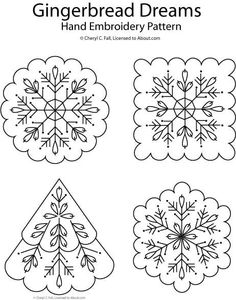 Gingerbread Dreams embroidery pattern