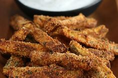 Here's a video showing you how to make them: | These Zucchini Fries Will Change The Way You Think About Fries Forever
