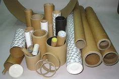 Save these and use them as forms to wrap clay around for cylinders and such....(from 10 ways to reuse paper rolls)
