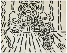 William Copley (American, 1919-1996), Untitled, 1967. India ink on paper, 12 ¼ x 15 1/3 in.