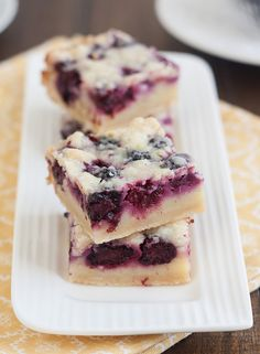 Blackberry Pie Bars by Traceys Culinary Adventures