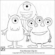 free monster coloring pages wwwyourfreeartnet and wwwdaisiecompanycom