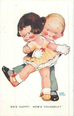1925 Vintage Postcard Artist Mabel Lucie Attwell Series 802 Dancing | eBay