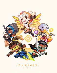 Overwatch supports! My favorite class by far ❤️