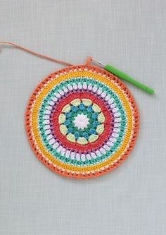 Colourful crochet mandala | step19 | Mollie Makes