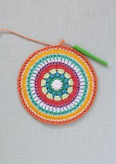 Colourful crochet mandala | step19 | Mollie Makes